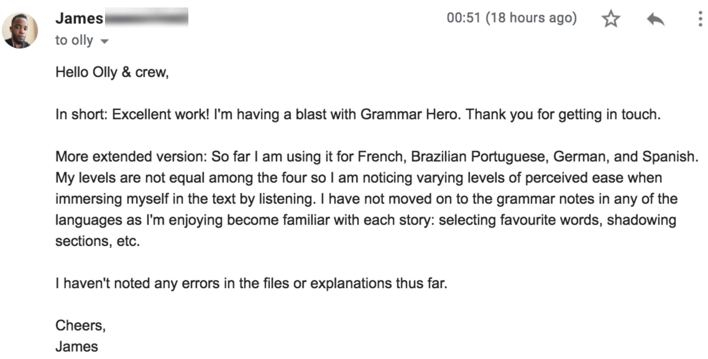Grammar Hero - French Edition